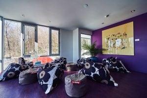 Verrière 2e étage - yoga | BALNEA réserve thermale